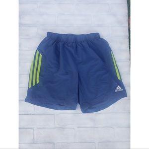 Adidas Blue & Green Shorts